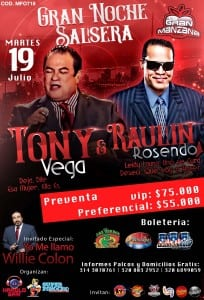 Flyers Tony Vega y Raulin Rosendo